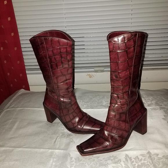 e48b893554cb8f Vero Cuoio Snakeskin boots Sz 6 36. M 5b53d55004e33df2cf59e919
